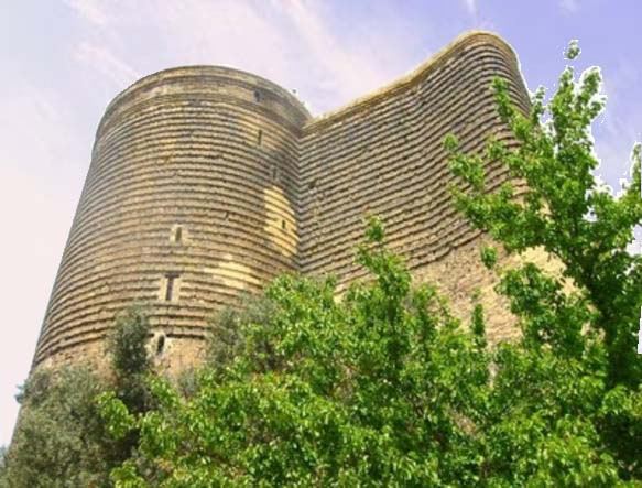 Azerbaijani Turkish Russian translations - Legendary Maiden Tower