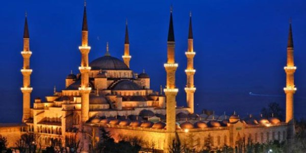 Mosque of Sultan Ahmet (Blue Mosque) - Turkish Russian Azerbaijani translations